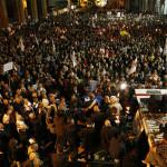 Public demonstration against war