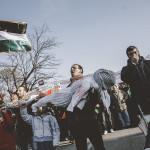 Palestinian community rally