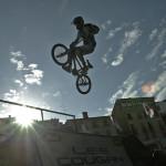 BMX acrobatic rider