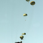 Paratroopers in training