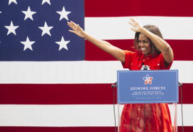 Reportage fotografico di attualità: Michelle Obama a Vicenza